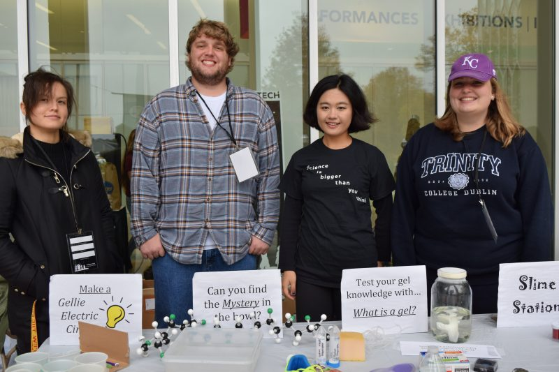 Group of students at the Virginia Tech Science Festival