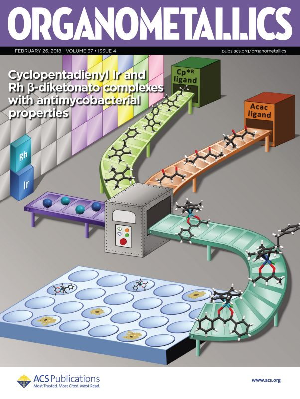 Cover of February 26th issue of Organometallics