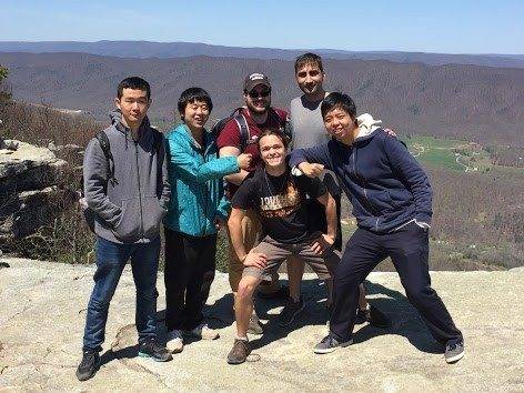 Graduate Students at the top of McAfee's Knob
